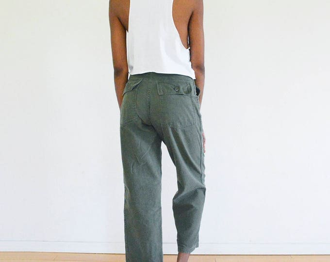 70s Green Fatigue Pants