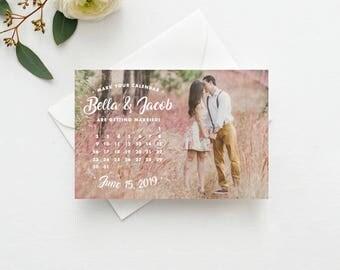 Mark Your Calendar Save the Date Postcard / Magnet / Flat Card - Calendar Photo Save the Date, Save the Date Calendar, Save our Date