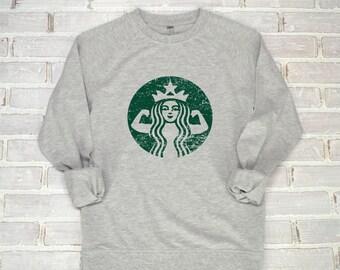 Starbucks Top   Starbucks Shirt - Starbucks Strong - Starbuff Shirt - Coffee Shirt - I Love Coffee - Seattle Shirt