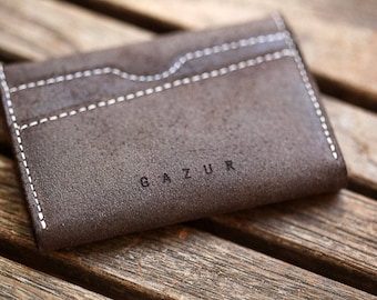 Minimalist Wallet, Leather Wallet, Slim Wallet, Gift For Him, Gifts for Father's Day