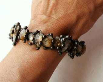 Citrine Crystal Bangle Bracelet