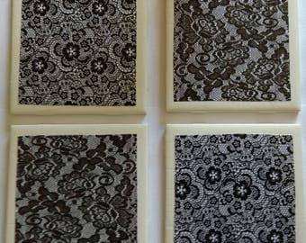 Black Lace Coasters