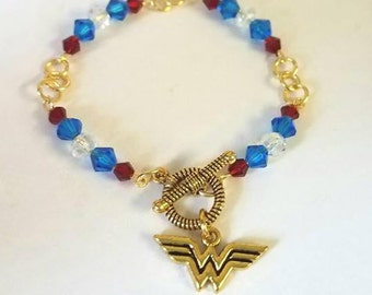 Wonder Woman Bracelet Wonder Woman jewelry Wonder Woman