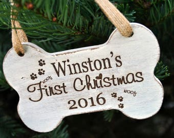 Puppy First Christmas Ornament - Dog First Christmas Ornament - Puppy Ornament - Dog Ornament - Dogs First Ornament - Dog First Christmas