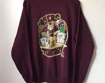 vintage san francisco 49ers crewneck sweatshirt mens size XL 1995