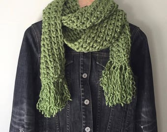 Fringe Scarf . Hygge . Over-sized Scarf . Thick Scarf . Crochet Scarf . Bulky Scarf . Chunky Scarf . Extra Large Scarf