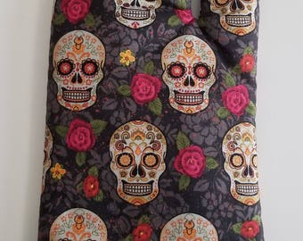 Sugar Skulls And Roses Kitchen Oven Mitt, Day of the Dead, Chef, Cook, Baker, Kitchenware, Potholder
