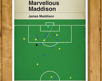 Norwich City goal v Ipswich Town - James Maddison Winner - Championship 2017 - Classic Book Cover Poster - Football Gift (Various sizes)