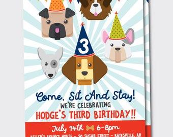 Puppy/Puppy Dogs/Dogs Birthday Invitation