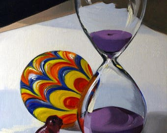 Hourglass oil painting