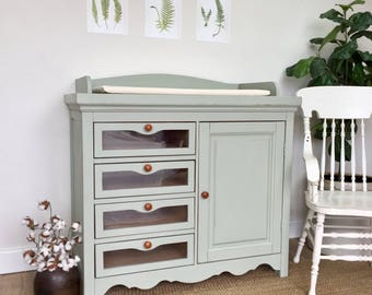 Changing Station - Baby Nursery Furniture - Changing Table Dresser - Shabby Chic Furniture - Nursery Dresser - Baby Clothes Storage