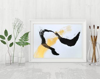 Original Abstract Painting Black and White Art Abstract Art Gold Painting Black and White Painting Black Gold Art Minimalist Art Modern Art