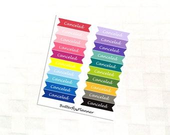 Canceled Double Flag Rainbow Stickers