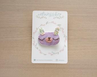 Bunny felt hair clip set - girl hair clip - baby hair accessories - hair clips - hair accessories - animals hair clip - bow - ready to ship