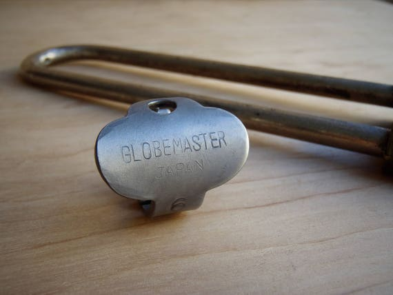 Globemaster Antique Key made into a RING! - Japan - Size 9 - Vintage - Powder Coated Steel