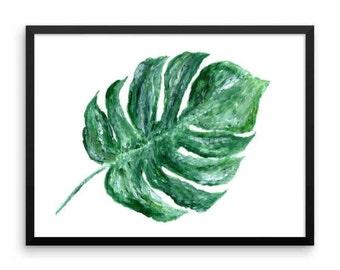 Monstera Leaf Printable Wall Art