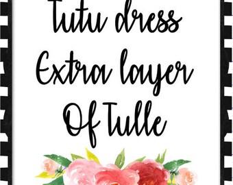 Tutu dress ADD on   Extra layer of tulle   Newborn- 8/10 Girls TUTU dresses ONLY