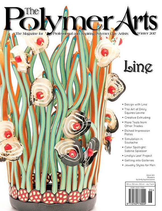 The Polymer Arts, Winter 2017, The magazine for professional and aspiring polymer clay artist talk about all things lines and dots