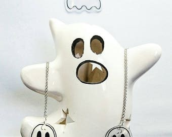 Transparent ghost necklace