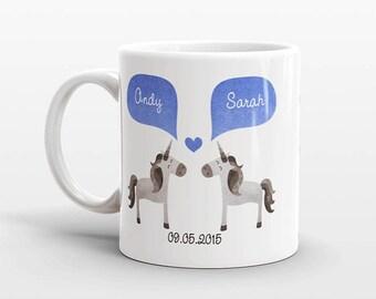 UNICORN Mug, Couple Mug, Personalized Mug, Engagement Gift, Anniversary Gift, Wedding Gift, Unique Coffee Mug, Coffee Cup, Animal Mug