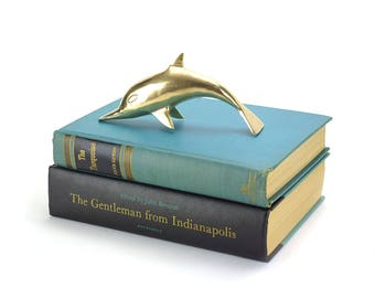 Vintage Brass Seal Figurine - Gold Sea Lion Sealife Beach House Decor - Nautical Ocean Animals Kids Nursery - Hollywood Regency Mid Century