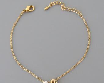 Girls Flower Bracelet//Flower Girl Gift//Flower Girl Bracelet Personalized//Children's Jewelry//Kids Initial Bracelet//Kids Jewellery