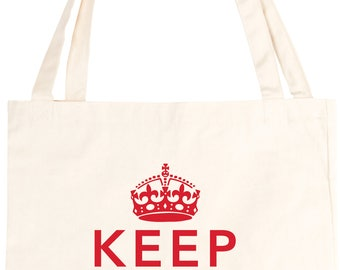 Keep Calm and Carry On Cotton Tote Bag