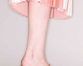 Pink Mules, Tassel Mules, Slip on, Clogs, Womens Shoes, Heels, Mules, Chunky Heels, Summer Shoes,  Leather Shoes, Sandals, Free Shipping