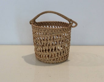 Woven Wicker Cup Holder / Pencil Cup
