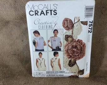 McCalls crafts sewing pattern, McCalls 7572, Creative clothing by McCalls, McCalls vests, vintage pattern, 1995 sewing and crafts pattern