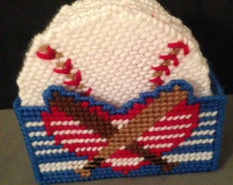 Baseball Coaster Set, Baseball Valentines Gift, Coasters For Men, Plastic Canvas Coasters, Sports Gifts, Needlepoint Canvas, Gift for Men