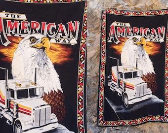 Bald eagle American Trucker Tapestry Velvet