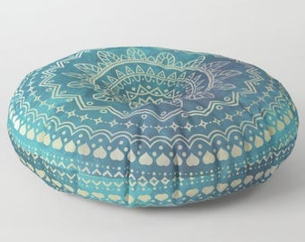 Stuffed Pouf, Floor Pillow Seating, Round Floor Cushions, Mandala Floor Pillow, Mandala Cushion, Indian Cushions, Floor Pillow Cushion
