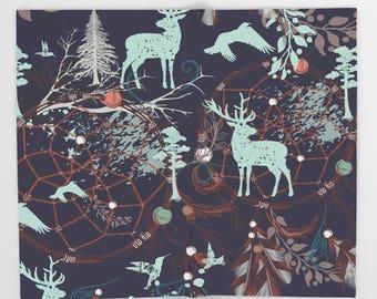 Throw Blanket Boho, Infant Blanket, Woodland Blanket, Teepee Nursery, Woodland Nursery, Rustic Nursery, Tribal Decor