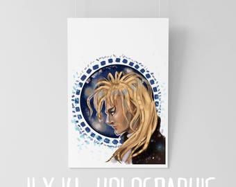Labyrinth - Goblin King Jarreth - original art print