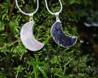 crystal moon necklaces