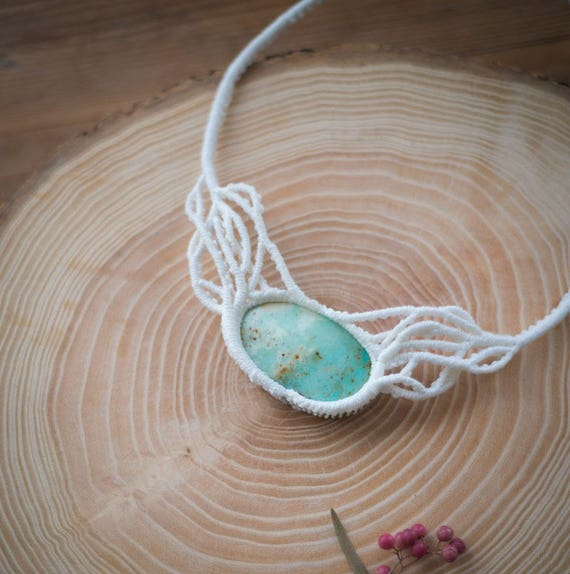 Chrysoprase boho necklace