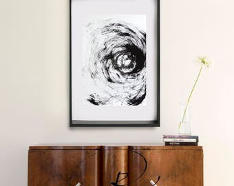 Original abstract painting, original abstract, abstract ink art, black and white modern abstract art, explosion, abstract art painting, art