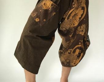SR0056 Samurai Pants Harem pants have fisherman pants style wrap around waist