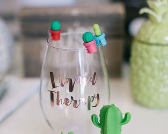 Cactus Drink Charms & Bottle Topper