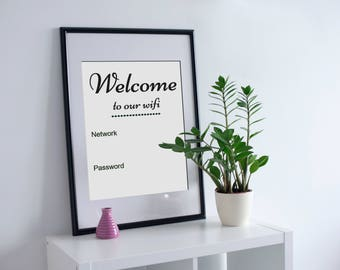 Guest Room, Wifi Password Printable