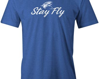 Chasing Fin Stay Fly Fishing T-shirt For Men