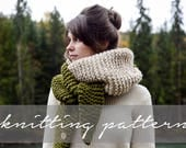 KNITTING PATTERN: Knitbrooks Oversized Tapered Knit Scarf