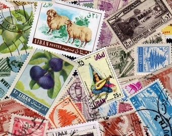 Lebanon Stamps, 35 Diff, Lebanon Postage Stamps, Labanese Stamps, Lebanese Postage Stamps, Stamps,Liban Stamps, Postage Stamps, Decoupage