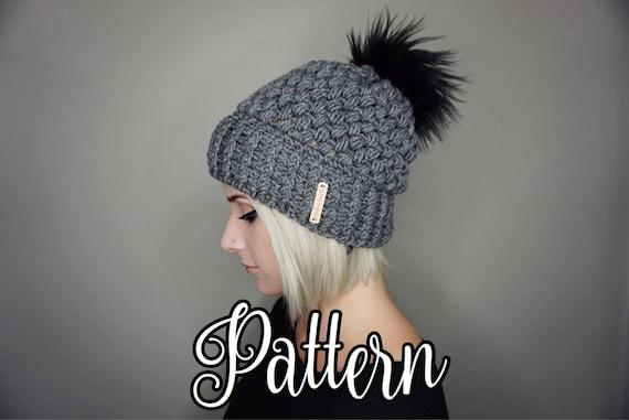 Crochet Pattern Fitted Puff Stitch Beanie Pdf File Charlie