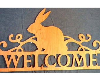 Easter gift ideas etsy easter decor easter gift idea easter hanger easter bunny hanger bunny welcome negle Choice Image