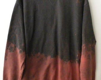 Gray Sweatshirt,  crewneck sweatshirt, Gray crewneck sweatshirt, Dip dye, crewneck sweatshirt, Jumper, Sweater, Boho, acid wash, Sweatshirt