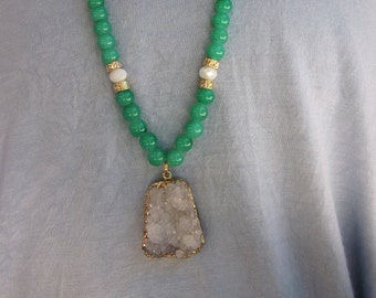 Druzy Beaded Necklace