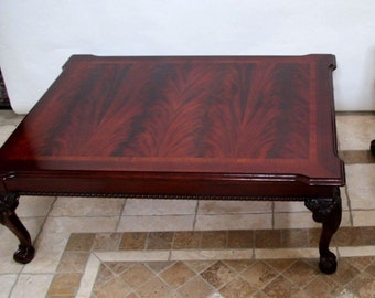 Thomasville CHIPPENDALE MAhogany Coffee Table Ball Claw safe insured safe nationwide shipping available