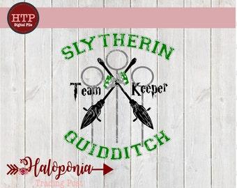Slytherin Quidditch Keeper SVG File (Harry Potter)